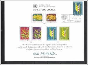 UN New York #SC10 Food Council Souvenir Card FDC