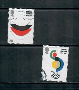 G.B 2004 COMMEMORATIVE SET ENTENTE CORDIALE ISSUE , USED