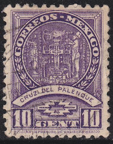 Mexico 712 Hinged Used 1935 Cross of Palenque
