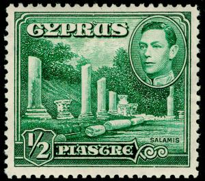 CYPRUS SG152, ½pi green, M MINT.