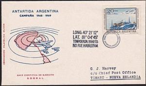 ARGENTINE ANTARCTIC cover 1969..............................................8229