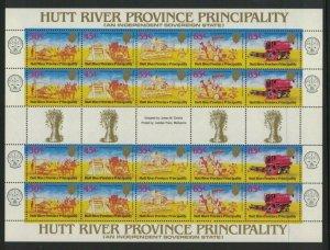MCR3) Hutt River Province 1984 Harvesters - 14th Anniversary Sheet MUH