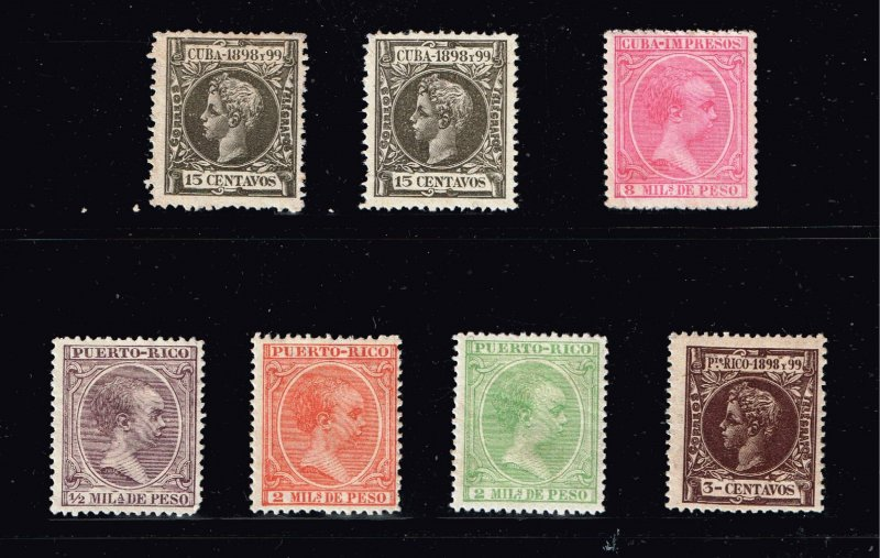 US STAMP CUBA, Porto Rico Stamp OLD MINT STAMP COLLECTION LOT