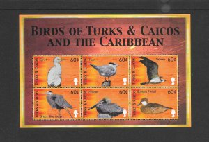 BIRDS - TURKS & CAICOS #1300  MNH