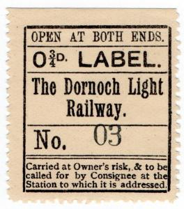 (I.B) The Dornoch Light Railway : Newspaper Parcel ¾d