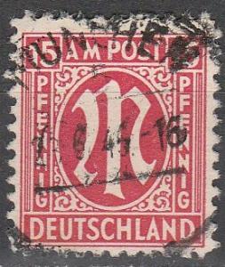 Germany #3N9 F-VF Used CV $3.00 (D1305)