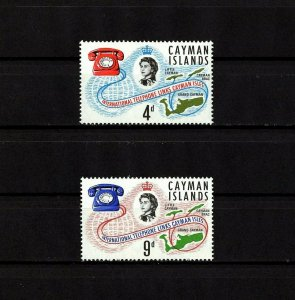 CAYMAN IS - 1966 - QE II - CAYMAN TELEPHONE SYSTEM LINK - 2 X MINT - MNH SET!