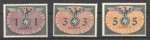 1940 Poland/General Gouvernement, German Occupation,  Officials 1st set MNH