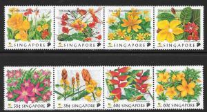 SINGAPORE SG949/56 1998 FLOWERS MNH