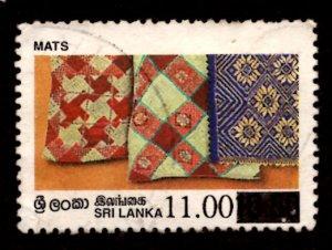 Sri Lanka SURCHARGED 1997 Mats Handicrafts 11r on 10.50r Scott.1190 Used (#4)
