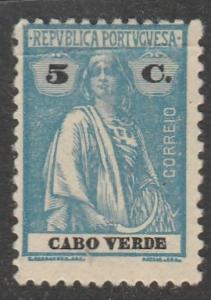 Cabo Verde  1922  Scott No. 156  (N*)