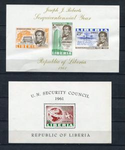 Liberia 1961 (2) Sheet MNH Imperf.