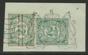 Netherlands Postal Stationery Cut Out A14P4F13