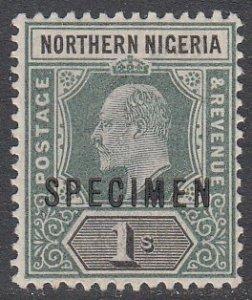 Northern Nigeria 16 MH Specimen Overprint CV $8.50