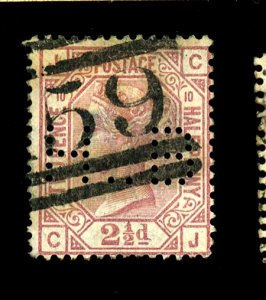 GB #67 PL10 USED PERFIN Cat $75