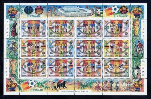 Lesotho 363 MNH, World Cup Soccer Sheetlet from 1982.