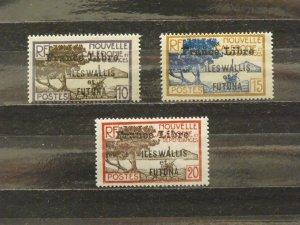 6367   Wallis Futuna   MH # 99, 100, 101               CV$ 12.50
