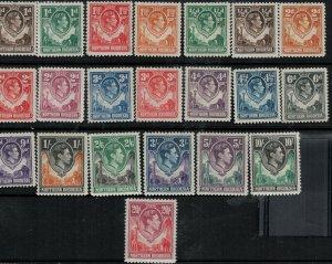 Northern Rhodesia 1938-1958 SC 25-45 Mint/MNH SCV $168.00
