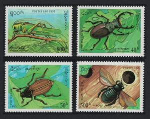 Laos Beetles Grasshopper Insects 4v SG#1467-1470 SC#1243-1246
