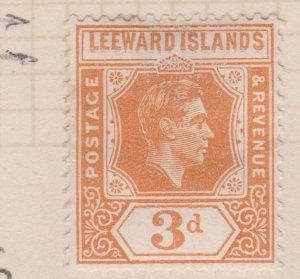 Leeward Islands Sc#109 MH Variety Leeward Double Printed, Damage top frame