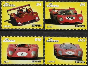 Gambia #2352-5 MNH Set - Ferrari Race Cars