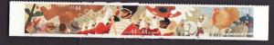 USA-Sc#4420a-unused NH strip-Thanksgiving Parade-self adhesive-
