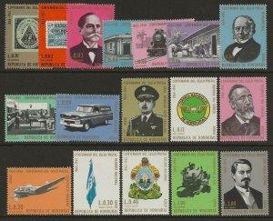 Honduras 1966 Centenary or the 1st Honduran stamp #C387-C403 Set VF-NH CV $11.30