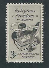 SCOTT# 1099 RELIGIOUS FREEDOM  MINT NEVER HINGED POST OFFICE FRESH