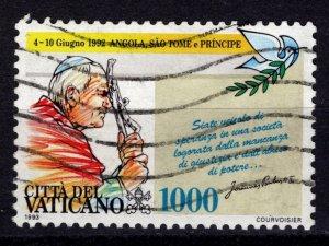 Vatican City 1993 Pope John Paul II's Journeys, 1000l [Used]