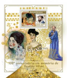 MOZAMBIQUE - 2018 - Gustav Klimt - Perf Souv Sheet  - MNH