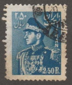 Persian stamp, Scott# 959, used, blue, military, roality,#A0096