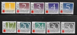 IRELAND, J37-J46, MNH, POSTAGE DUE STAMPS