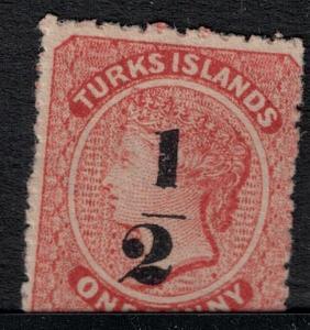 Turks Island SC 11 Mint 1881 SCV$ 210.00