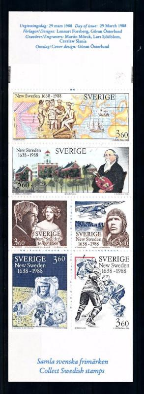 [44750] Sweden 1988 Sports New Sweden Icehockey Astronaut Lindberg MNH Booklet
