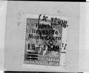 MONTENEGRO 1944 OCCUPAZIONE TEDESCA SOPRASTAMPATI MARCHI TEDESCHI  0,15 + 0,8...