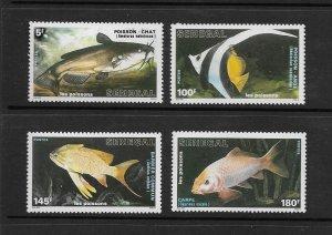 FISH - SENEGAL #762-5  MNH