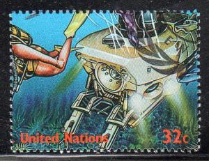 UN - New York 734k - CTO-NH - Submersible / Diver (cv $0.60)