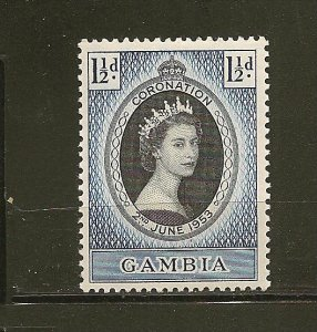 Gambia 152 QEII Coronation Issue Mint Hinged