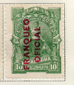 Nicaragua 1891 Early Issue Fine Mint Hinged 10P. Official Optd 323705