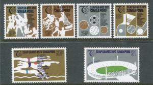 SINGAPORE Sc#183-186 1973 Sports, National Stadium MNH CV$17