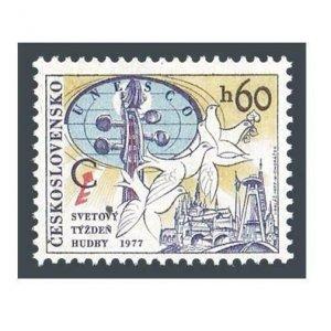 Czechoslovakia 2135 block/4,MNH.Michel 2401. Music Council of UNESCO,1977.
