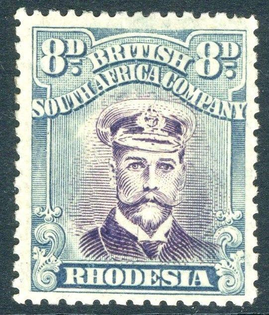 RHODESIA-1919 8d Mauve & Greenish-Blue Sg 268 LIGHTLY MOUNTED MINT V18591