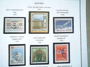 1983  Austria  MNH  full page auction