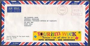 FIJI 1991 large Tourism Week cinderella on official cover..................30444