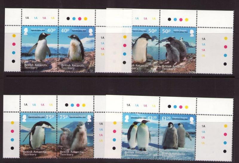 BAT PENGUINS SET COMPLETE QEII  issued  2013  IN Superb MNH CONDITON.