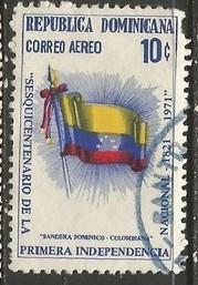 Dominican Republic C188 VFU FLAG 117C-2