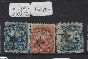 COSTA RICA   (P2302BB)  SC 1  ALAJUELA + STAR IN CIRCLE CANCELS SC 1,1A,2  VFU