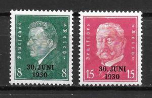 Germany 385-86 Rhineland Evacuation set MNH