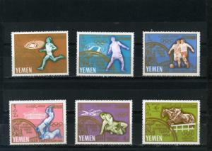 YEMEN KINGDOM 1965 Mi#196-201A SUMMER OLYMPIC GAMES TOKYO SET OF 6 STAMPS MNH