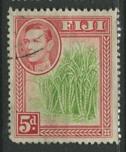 Fiji - Scott 124 - KGVI - Definitive - 1938 - FU - Single 5p Stamp